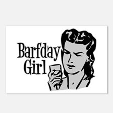 Grey Barfday Girl Postcards (Package of 8)