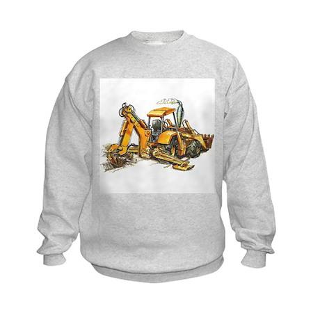 Back Hoe Kids Sweatshirt