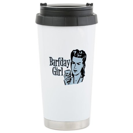 Blue Barfday Girl Stainless Steel Travel Mug