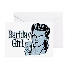 Blue Barfday Girl Greeting Card