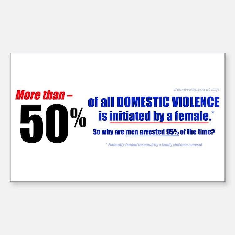 Domestic Violence Truth Revea Rectangle Decal