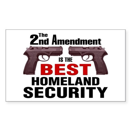 Guns & Homeland Security Rectangle Sticker