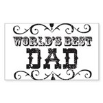 World's Best Dad Rectangle Sticker