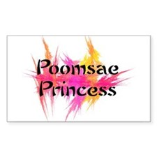 Taekwondo Poomsae Princess Rectangle Decal