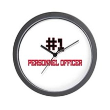 Number 1 PERSONNEL OFFICER Wall Clock