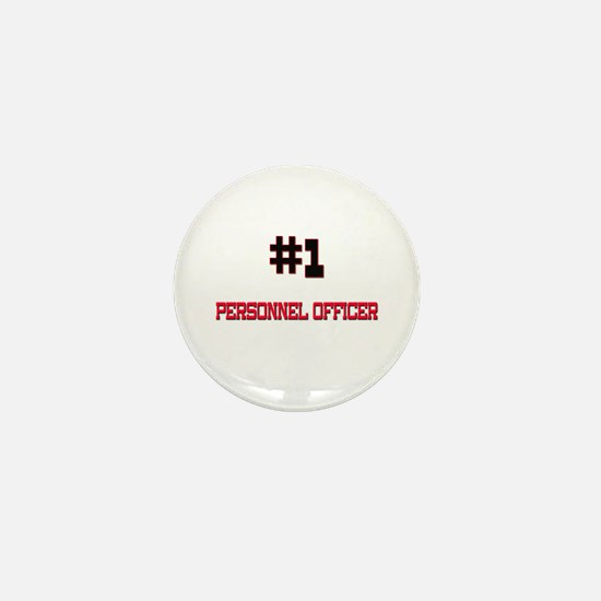 Number 1 PERSONNEL OFFICER Mini Button