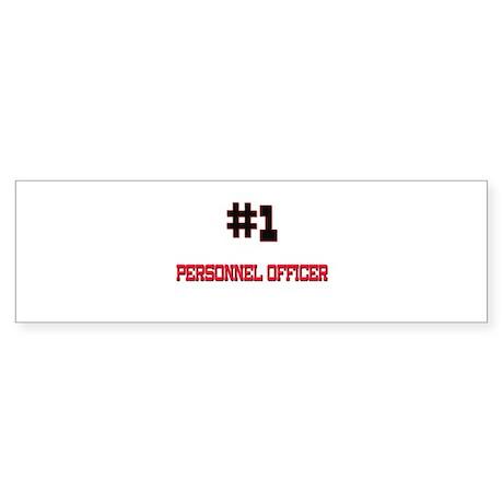Number 1 PERSONNEL OFFICER Bumper Sticker