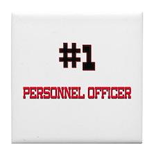 Number 1 PERSONNEL OFFICER Tile Coaster
