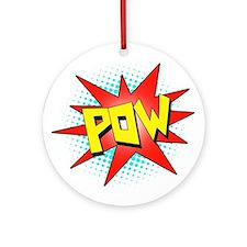 Pow, Superhero! Ornament (Round)