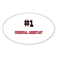 Number 1 PERSONAL ASSISTANT Oval Decal