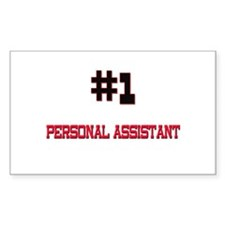Number 1 PERSONAL ASSISTANT Rectangle Decal
