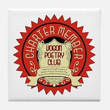Vogon Poetry Club Tile Coaster