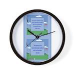 Golf Quotes Aaron Wall Clock