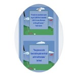 Golf Quotes Aaron Oval Ornament