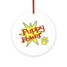 Puppy Power Ornament (Round)