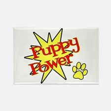 Puppy Power Rectangle Magnet