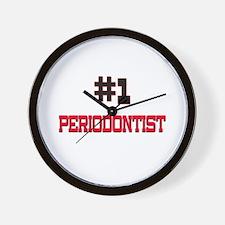 Number 1 PERIODONTIST Wall Clock