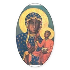 Our Lady of Czestochowa Oval Decal