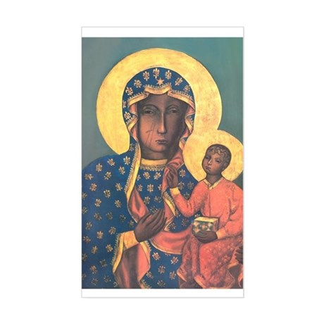 Our Lady of Czestochowa Rectangle Sticker