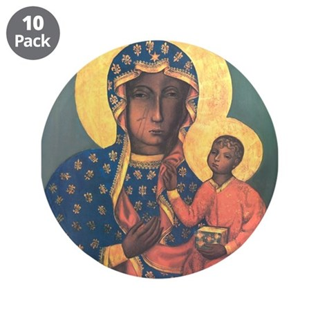 "Our Lady of Czestochowa 3.5"" Button (10 pack)"
