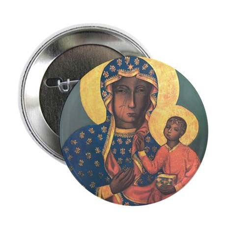 """Our Lady of Czestochowa 2.25"""" Button (10 pack)"""