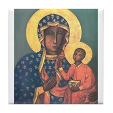 Our Lady of Czestochowa Tile Coaster