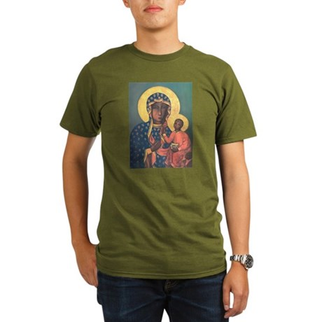 Our Lady of Czestochowa Organic Men's T-Shirt (dar