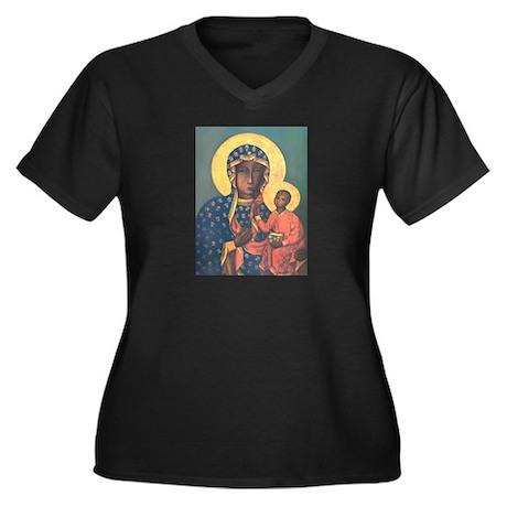 Our Lady of Czestochowa Women's Plus Size V-Neck D