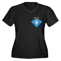 AKA Fighter Kite Classic Women's Plus Size V-Neck