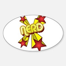 Nerd! Oval Decal