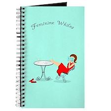 Feminine Whiles Reading Lady Journal Marine