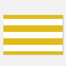 Mustard Yellow Horizontal Stripes Postcards (Packa