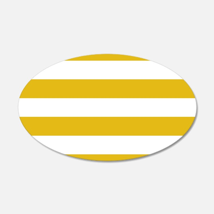 Mustard Yellow Horizontal Stripes Wall Decal
