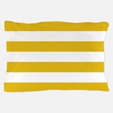 Mustard Yellow Horizontal Stripes Pillow Case