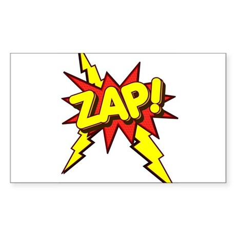 Zap! Rectangle Sticker