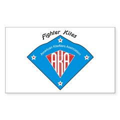 AKA Fighter Kite Classic II Rectangle Sticker 50