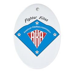 AKA Fighter Kite Classic II Oval Ornament