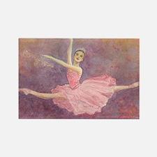 Sugar Plum Fairy Ballet Rectangle Magnet