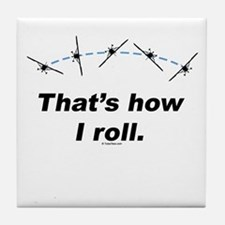 Airplane Roll Tile Coaster
