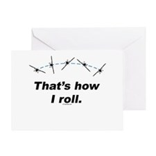 Airplane Roll Greeting Card