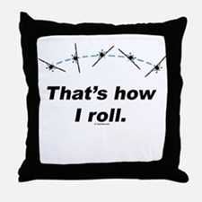 Airplane Roll Throw Pillow
