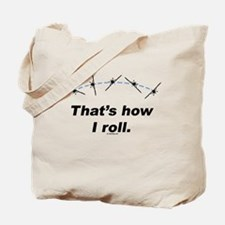 Airplane Roll Tote Bag