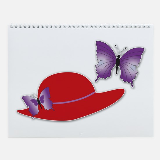 Red Hat Butterfly Wall Calendar