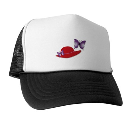 Red Hat Butterfly Baseball Hat