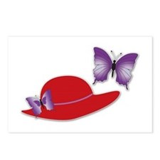 Red Hat Butterfly Postcards (Package of 8)