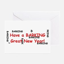 Barking Great New Year! Greeting Cards (Package of
