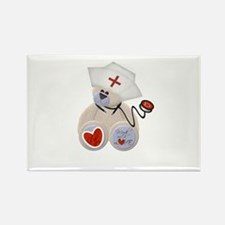 Nurse Bear Rectangle Magnet (10 pack)