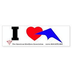 I love Sport Kites Bumper Bumper Sticker
