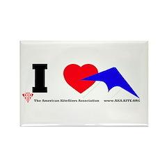 I love Sport Kites Rectangle Magnet