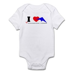 I love Sport Kites Infant Bodysuit